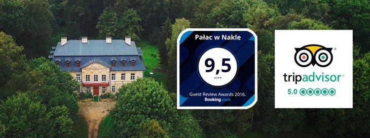Noclegi w pałacu w Nakle.